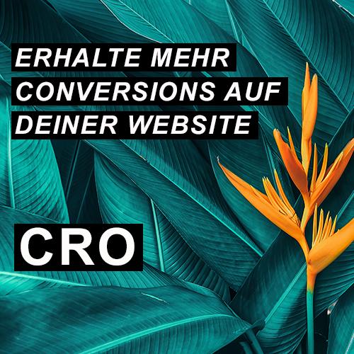 Erhalte mehr Conversions auf deiner Website - CRO