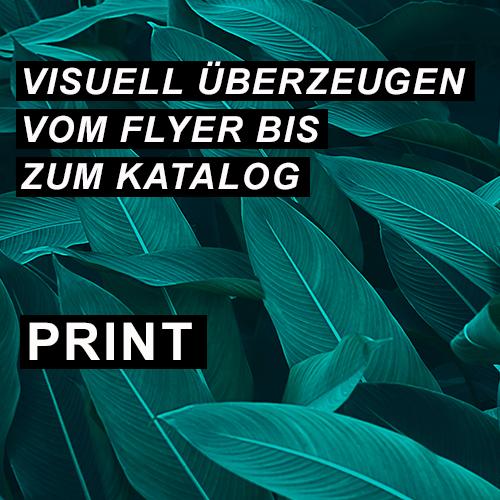 Visuell überzeugen vom Flyer bis zum Katalog - Print