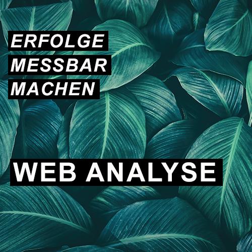 Erfolge messbar machen - Web Analyse